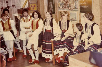 In Greek costume